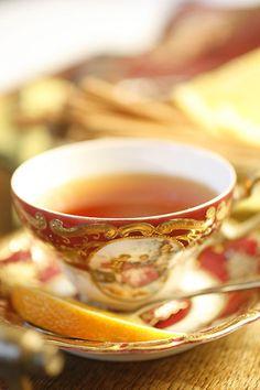 A spot of orange spice tea. Chocolate Cafe, Orange Tea, Orange Table, Orange Juice, Autumn Tea, Autumn Leaves, Russian Tea, Cuppa Tea, Tea Recipes