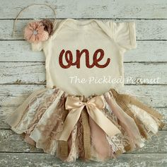 Vintage Tutu Shabby Chic Birthday Outfit 1st Birthday Outfit Baby Tutu Baby Skirt Lace Burlap Tutu Country Chic 3 Piece Cake Smash Set by ThePickledPeanut on Etsy https://www.etsy.com/listing/263193168/vintage-tutu-shabby-chic-birthday-outfit