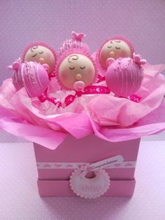 Pretty Pink Girl Baby Shower Cake Pops Picture