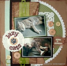 Lazy Cats  **Moxxie** - Scrapbook.com