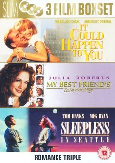 Uca It Could Happen to You [1994] / My Best Friends Wedding [1997] / Sleepless in Seattle [1993] [DVD] No description (Barcode EAN = 5050582460308). http://www.comparestoreprices.co.uk/december-2016-4/uca-it-could-happen-to-you-[1994]--my-best-friends-wedding-[1997]--sleepless-in-seattle-[1993]-[dvd].asp