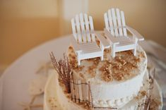 amazing #beach #wedding #cake (photo by tony spinelli photography)