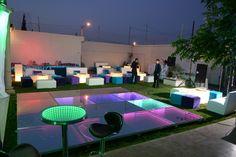 Ambientación de eventos. Tecnología LED y SALAS LOUNGE en Chihuahua, Mx. Precios accesibles. Comunícate al 614-303-0050 Polly Michel