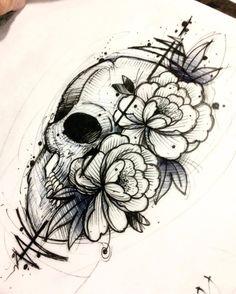 50 Skull Pencil Drawing Ideas - 50 Skull Pencil Drawing Ideas S - 50 skull pencil drawing ideas 50 skull pencil drawing ideas SkullSketch bleistiftzeichn - backtattoo drawing ideas pencil skull tattoosketches wavetattoo # Tattoo Sketches, Tattoo Drawings, Body Art Tattoos, Pencil Drawings, Tatoos, Skull Drawings, Key Tattoos, Foot Tattoos, Easy Drawings