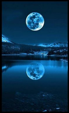 """How often does a full moon occur twice in a single month? Exactly once in a Blue Moon.The term """"Blue Moon"""" refers to the second Full Moon in a month. Moon Moon, Blue Moon, Moon River, The Moon Is Blue, Dark Moon, Moon Art, Pretty Pictures, Cool Photos, Beautiful Moon Pictures"""