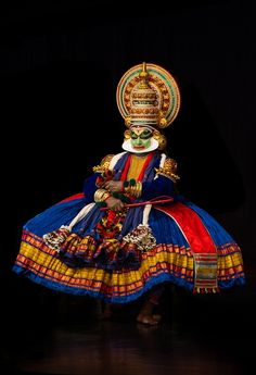 Kathakali performer in the virtuous pachcha (green) role in Chennai, South India. Kathakali is the ancient classical dance form of Kerala. Photograph by Arvind Balaraman.