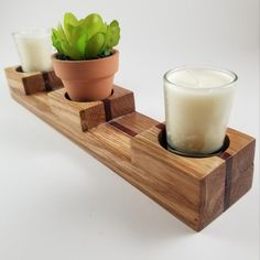 My handmade wood tealight candle holder. Made from white oak & padauk. Fits standard tealights and/or votives. Hope you guys like. Candle Holder Decor, Tealight Candle Holders, Woodworking As A Hobby, Woodworking Projects, Tea Light Candles, Tea Lights, Small Wood Projects, Tea Light Holder, White Oak