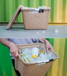 Igloo Says Goodbye To Styrofoam Coolers, Releases Biodegradable Update Bag Packaging, Print Packaging, Packaging Design, Juice Packaging, Painting Styrofoam, Paper Carrier Bags, Cooler Box, Cooler Designs, Creativity And Innovation