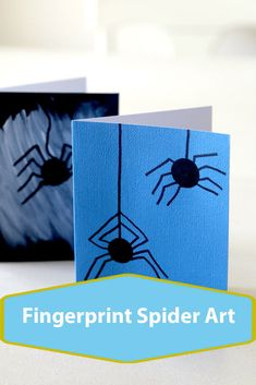 Fingerprint Spider Art, do the bodies with black paint and draw on legs right into a spider web Halloween Kids, Halloween Themes, Spider Art, Toddler Art, Crafts For Girls, Craft Activities For Kids, Art For Kids, Easy Crafts, Paper Crafts