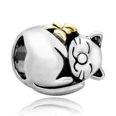 Pugster 22k Gold Plated Cute Sleeping Fortune Cat Animal Bead Fits Pandora Charms Bracelet Pugster http://www.amazon.co.uk/dp/B00B5CTWXS/ref=cm_sw_r_pi_dp_k8kLtb0FTG777E09