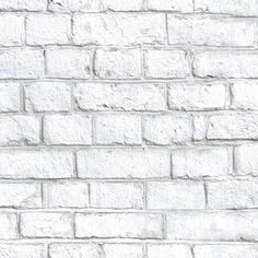 White Brick Peel and Stick Wallpaper - The Home Depot RoomMates sq. White Brick Peel and Stick Wallpaper White Brick Wallpaper, Ps Wallpaper, Self Adhesive Wallpaper, Peel And Stick Wallpaper, Latest Wallpaper, Wallpaper Gallery, White Wash Brick, White Brick Walls, White Bricks