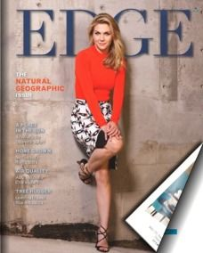 """EDGE Magazine   The Natural Geographic Issue - Featuring AMC's """"Better Call Saul"""" Star Rhea Seehorn on the cover."""