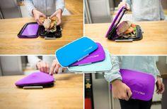 Contenedor flexible para tu comida  Mantiene cualquier alimento sólido en perfectas condiciones.