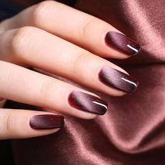 Cat Eye Nails Polish, Gel Nail Polish, Nail Polishes, Coffin Nails, Hair And Nails, My Nails, Magnetic Nail Polish, Nail Pen, Manicure E Pedicure