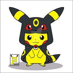 Pikaumbre (pikachu cosplay umbreon) by PianArt29