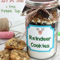 Reindeer Cookies In A Jar Recipe & Instructions