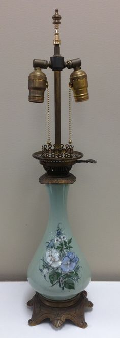 Vintage Asian Porcelain Figurine Lamp Lamps We Have