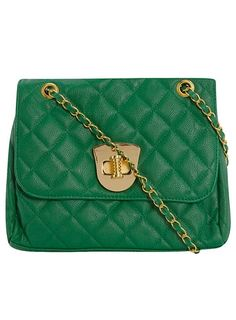 Green quilted cross body bag - Dorothy Perkins United States - StyleSays