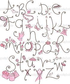 girly letters | Girly Alphabet | Stock Photo © Lorelyn Medina #11129246