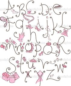 girly letters | Girly Alphabet | Stock Photo © Lorelyn Medina #11129246