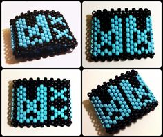 NEW COLORS!! Kandi cuff rave bracelet - DRAMAtical Murder inspired bunny cuff! (Great for raves & festivals!)
