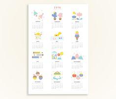 Design is Yay Calendar 2016 - Printable A3 Poster Calendar   DESIGN IS YAY!