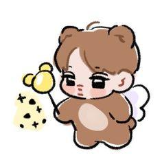 Exo Cartoon, Kai Arts, Chibi, Exo Stickers, 5 Years With Exo, Exo Anime, Exo Fan Art, Exo Kai, Kpop Fanart