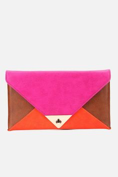 Urban Outfitters - UO Colorblock Envelope Clutch