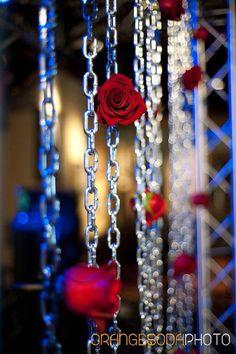Rock n Roll, red and black, Las Vegas Wedding, Scheme Events wedding planner