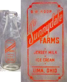 Would love this Jersey milk bottle with orange letters for my collection!