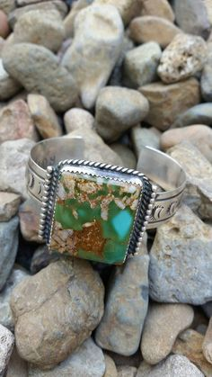 Royston Turquoise Handmade Navajo Piece Cuff/Bracelet