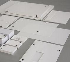 John Morgan Studio Beautiful #minimalist #stationery #design for DRDH Architects, from UK.