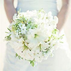 Beach Wedding Idea: White Bridal Bouquet via the Knot | Book Your Dream Beach Wedding at the Resorts of Pelican Beach in Destin, FL