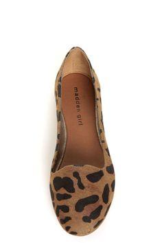 Madden Girl Hoops Leopard Smoking Slipper Flats Anziehen 20c3200a44