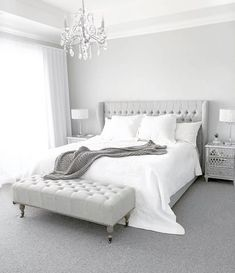 Anica Queen Size Bed Frame A timeless bedroom styled by J O.marie_b featuring our Anica Queen Size B Timeless Bedroom, Home Bedroom, Bedroom Interior, Bedroom Design, Bedroom Styles, Grey Bed Frame, Bed Design, Bedroom Bed Design, Room Ideas Bedroom