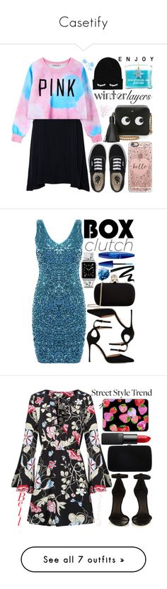 """""""Casetify"""" by enola-pycroft ❤ liked on Polyvore featuring Vans, Chicnova Fashion, Anya Hindmarch, Casetify, women's clothing, women's fashion, women, female, woman and misses"""