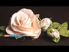 «Ручная работа». Роза в технике фом-флористики (20.01.2016) - YouTube