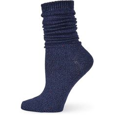 Sperry Women's Boyfriend Marl Boot Crew Socks ($5) ❤ liked on Polyvore featuring intimates, hosiery, socks, navy, crew length socks, patterned hosiery, crew socks, navy socks and marled socks