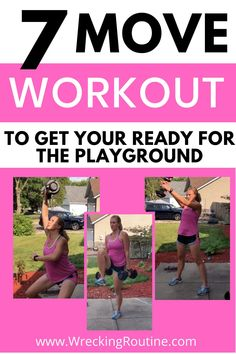 Full body workout to keep up with your kids. Use this at home workout to get strong. No excuses to not play with your kids now. Keep up with your kids at the playground. How to use a playground for a workout.  #playgroundworkout #outdoorworkout #wreckingroutine Strength Training Workouts, Body Workouts, Fun Workouts, At Home Workouts, Workout Ideas, Workouts Outside, Outdoor Workouts, Full Body Workout At Home, Home Exercise Routines