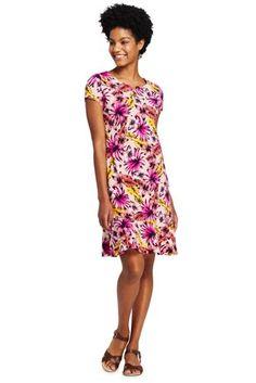 968d4b2bcb Try our Women s Short Sleeve Print Ruffle Hem Tee Shirt Dress at Lands  End.