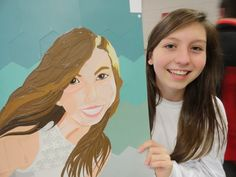 Challenge: how to create a self portrait using only paint swatches
