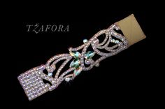 """Hibiscous"" - Swarovski ballroom bracelet, each one handmade in Canada. Ballroom jewelry, ballroom dancesport accessories. www.tzafora.com Copyright © 2016 Tzafora"