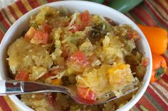 Spaghetti Squash with Salsa.