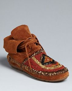 House of Harlow Moc Flat Booties - Madison | Bloomingdale's These are really nice.