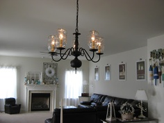 Fake-It Frugal: Fake Pottery Barn Mason Jar Chandelier for $0 and in under 1 minute!