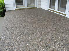 ideas exposed aggregate concrete patio pool decks for 2019 Concrete Patios, Concrete Patio Designs, Concrete Porch, Cement Patio, Concrete Color, Flagstone Patio, Exposed Concrete, Concrete Finishes, Concrete Sealer
