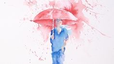 Wistia video thumbnail - w-jt-tl-walking-in-the-rain Drawing Rain, Watercolor Art Face, Frida And Diego, Brusho, Walking In The Rain, Love Illustration, Art Pictures, Art Pics, Art Lessons