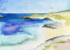 SALE Coastal Art Print Rottnest Island Perth by EmmaAllardSmith