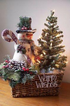 Lovely snowman decoration.