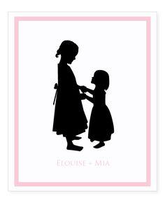 Custom Silhouette Print From Your Photo 8x10  by LePapierStudio,